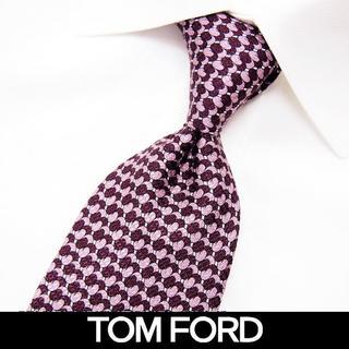 トムフォード(TOM FORD)の77 TOMFORD  パープル SILK100% ネクタイ(ネクタイ)