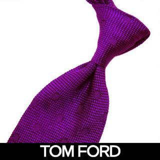 TOM FORD - 78 TOMFORD  パープル SILK100% ネクタイ