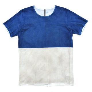 カズユキクマガイアタッチメント(KAZUYUKI KUMAGAI ATTACHMENT)の美品 カズユキクマガイ アタッチメント スプレーダイ 染め Tシャツ 2(Tシャツ/カットソー(半袖/袖なし))