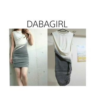 ダバガール(DABAgirl)のDABAGIRL✳スウェットシャーリングワンピース(ミニワンピース)