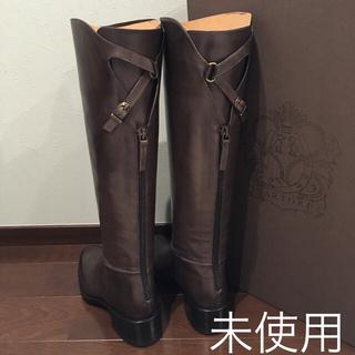 サルトル(SARTORE)の【未使用】SARTORE サルトル バックベルト ロングブーツ 36 グレー(ブーツ)