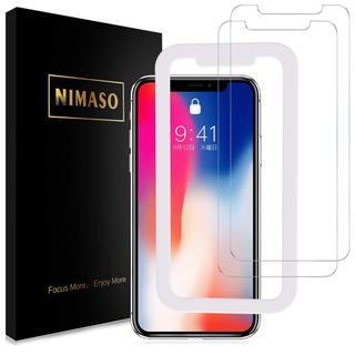 Nimaso iPhoneX/iPhoneXS用 液晶保護フィルム 2枚セット(保護フィルム)