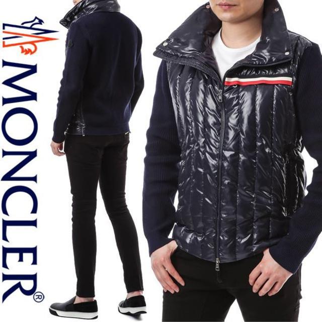 MONCLER(モンクレール)のザルス様専用 MONCER ネイビーブルゾンM メンズのジャケット/アウター(ブルゾン)の商品写真