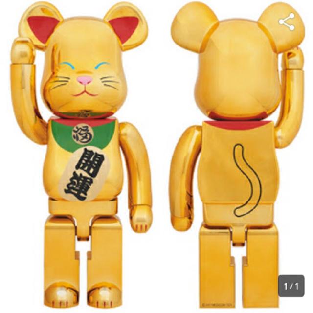 MEDICOM TOY(メディコムトイ)の【新品】BE@RBRICK 招き猫 金メッキ 弐 1000% エンタメ/ホビーのフィギュア(その他)の商品写真