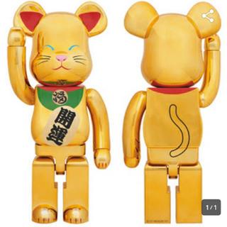 【新品】BE@RBRICK 招き猫 金メッキ 弐 1000%
