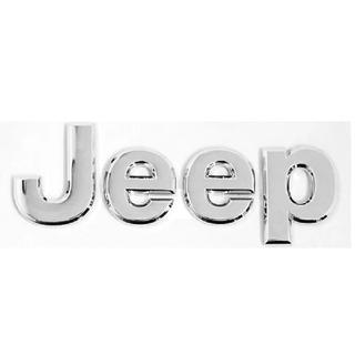 ジープ(Jeep)の即購入OK! Jeep リア フロント エンブレム シルバー(車外アクセサリ)