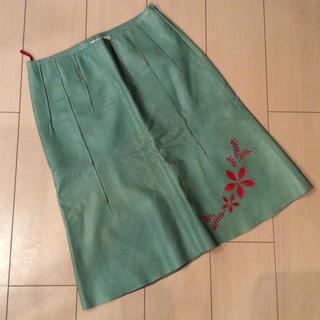 ヴィヴィアンタム(VIVIENNE TAM)のビビアンタム革スカート(ひざ丈スカート)