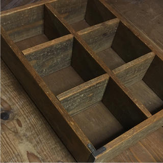 MUJI (無印良品) - アンティーク風小物入れ 無垢材 棚