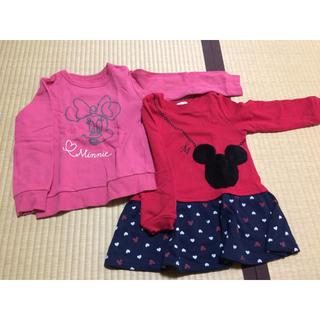 サンカンシオン(3can4on)の新品!ミニーちゃんトレーナーセット(Tシャツ/カットソー)