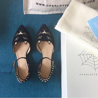 シャルロットオリンピア(Charlotte Olympia)の新品未使用♡ Charlotte Olympia スタッズ フラット パンプス(ローファー/革靴)