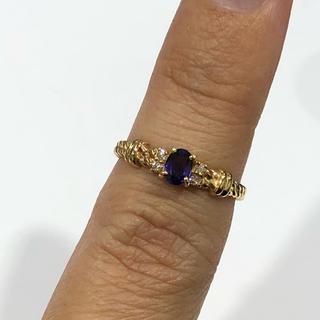 テッテ様専用♡K18 サファイア ダイヤモンド リング(リング(指輪))