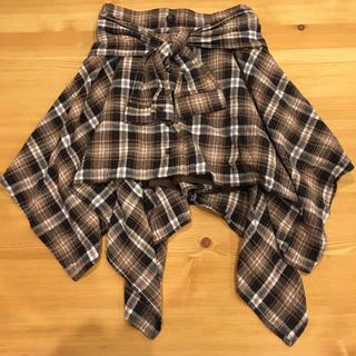 スズタン(suzutan)の腰巻風スカート(ミニスカート)