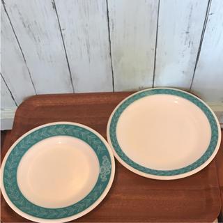 パイレックス(Pyrex)のオールドパイレックス ブルーローレル 2P(食器)