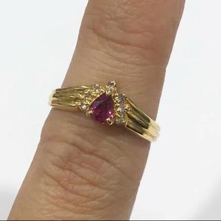 K18 ルビー ダイヤモンド リング 0.41ct(リング(指輪))