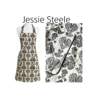 ジェシースティール(Jessie Steele)のJessie Steele✳ハートダマスク柄エプロン(収納/キッチン雑貨)