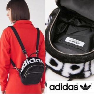 アディダス(adidas)の値下げしました!adidas フェイクファー ロゴ ミニバックパック リュック(リュック/バックパック)