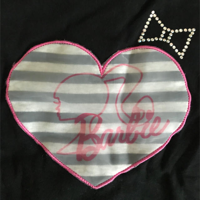 Barbie(バービー)のゆっきーの様専用Barbieバービー♡150 ボーダーリボン ワンピース キッズ/ベビー/マタニティのキッズ服女の子用(90cm~)(ワンピース)の商品写真