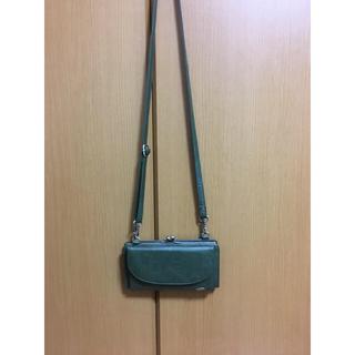 スタディオクリップ(STUDIO CLIP)のお財布ショルダー グリーン(財布)