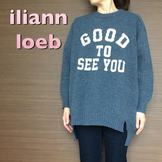 イリアンローヴ(iliann loeb)の【iliann loeb】カスタマイズニット/ブルー(ニット/セーター)