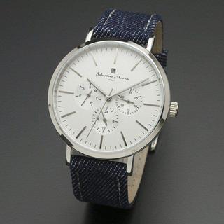 サルバトーレマーラ(Salvatore Marra)のサルバトーレマーラ デニムベルト 腕時計 メンズ 人気 シンプル ユニセックス(腕時計(アナログ))