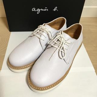 アニエスベー(agnes b.)のagnes b ドレスシューズ白(サイズ23.5㎝)(ローファー/革靴)