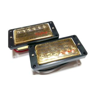 エピフォン(Epiphone)のEpiphone純正 ハムバッカー ゴールド 2個セット エスカッション付き(エレキギター)