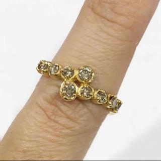クジラ様専用♡K18 ブラウンダイヤモンド リング 0.50ct(リング(指輪))