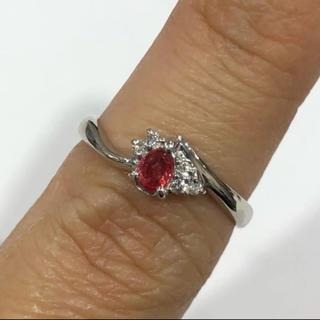 PT900 ルビー ダイヤモンド リング(リング(指輪))