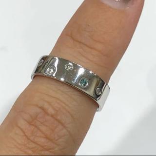 K18 ブルーダイヤモンド リング 0.07ct(リング(指輪))
