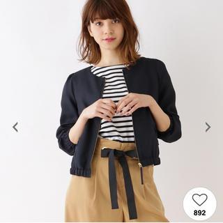 クチュールブローチ(Couture Brooch)の新品未使用☆クチュールブローチ リボンポケット ブルゾン(ブルゾン)