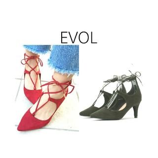 イーボル(EVOL)のEVOL✳レースアップパンプス(ハイヒール/パンプス)