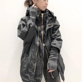 アパルトモンドゥーズィエムクラス(L'Appartement DEUXIEME CLASSE)の REMI RELIEF Nylon Zip Up ジャケット  ブラック(ブルゾン)