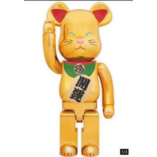 ベアブリック 1000% BE@RBRICK 招き猫 金メッキ メディコムトイ