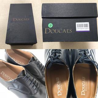 サントーニ(Santoni)の美品 デュカルス DOUCAL'S 40(25.5〜26.0) プレーントゥ 黒(ドレス/ビジネス)