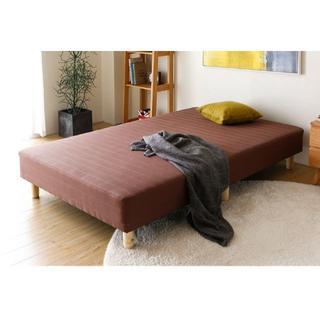 脚付きマットレス 一体型 ボンネルコイル シングルベッド セミダブル ダブル(脚付きマットレスベッド)