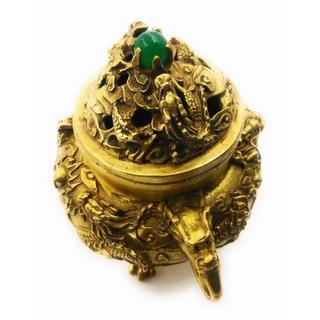 九龍香炉 縁起物 開運 中国伝統芸術加工品(置物)