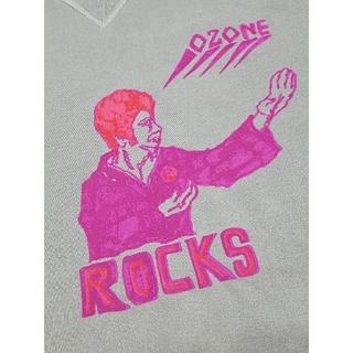 オゾンロックス(OZONE ROCKS)の希少☆OZONE ROCKS☆グレー プリント トレーナー (S)(トレーナー/スウェット)