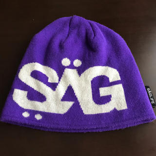 サグライフ(SAGLiFE)のSAGLiFE☆パープル ニット帽☆ビーニー(ニット帽/ビーニー)