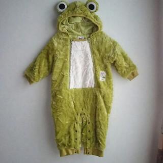 ザジーザップス(ZAZZY ZAPS)のZAPS☆ザップス もこもこカエルさん着ぐるみオールインワン 90 USED(カバーオール)