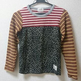 グリーントマト(GREEN TOMATO)のGREEN TOMATO 15(130センチ) レオパード Tシャツ ニット(Tシャツ/カットソー)