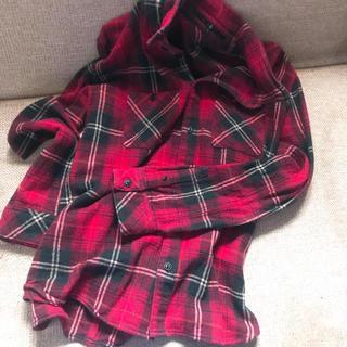 ノーアイディー(NO ID.)のNOID . サイズ2 Yシャツ 赤チェック 襟ワイヤー(シャツ)