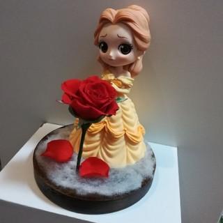 ディズニー(Disney)の美女と野獣のベルと一輪の薔薇(プリザーブドフラワー)