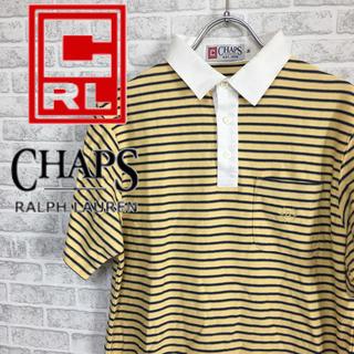チャップス(CHAPS)のChaps ボーダー ポロシャツ Mサイズ(ポロシャツ)