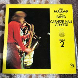 マリガン&ベイカー  レコード  カーネギーホールコンサート Vo.2(ジャズ)