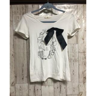 ドゥアルシーヴ(Doux archives)のドゥアルシーヴ リボンTシャツ♡(Tシャツ(半袖/袖なし))
