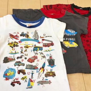 ニードルワークスーン(NEEDLE WORK SOON)の3点セット 80cm オフィシャルチーム 働くくるま 乗り物 Tシャツ トップス(Tシャツ)