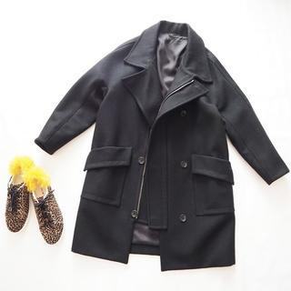 エディション(Edition)の未使用 エディション オーバーサイズ ウール コート 黒 トゥモローランド 38(ロングコート)
