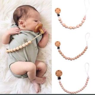 おしゃぶり 歯固め おもちゃホルダー 赤ちゃん 木製 シンプル(ベビーホルダー)