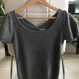 エフデ(ef-de)のef-de  ラメ入り半袖セーター(ニット/セーター)