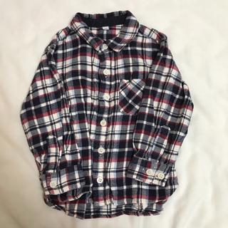 ムジルシリョウヒン(MUJI (無印良品))のチェックシャツ 90(ブラウス)